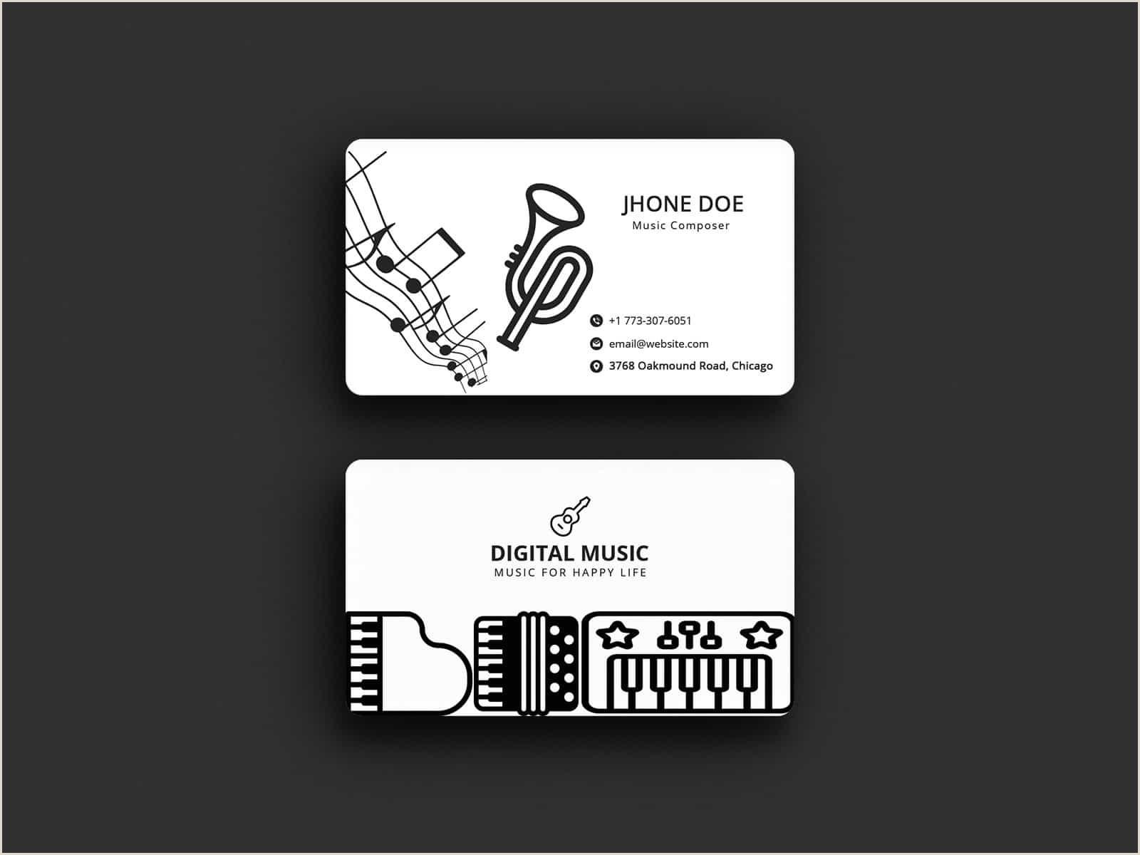 Best Musician Business Cards Musician Business Cards 2020