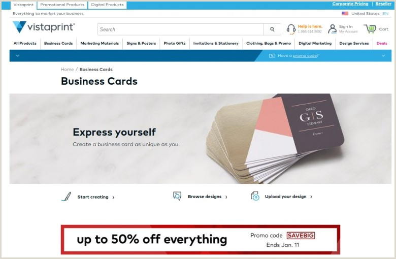Best Online Business Cards 11 Best Places To Order Business Cards Line In 2020