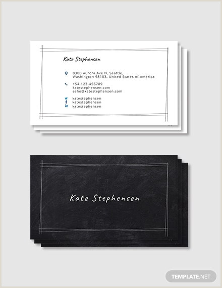Best Personal Business Cards 28 Best Personal Business Card Templates Word Ai Pages