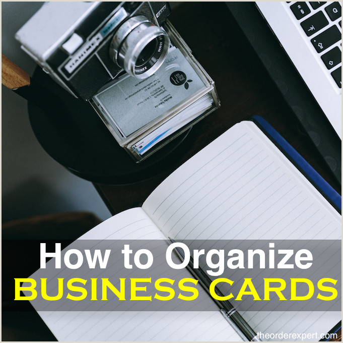 Best Place To Put Business Cards How To Organize Business Cards
