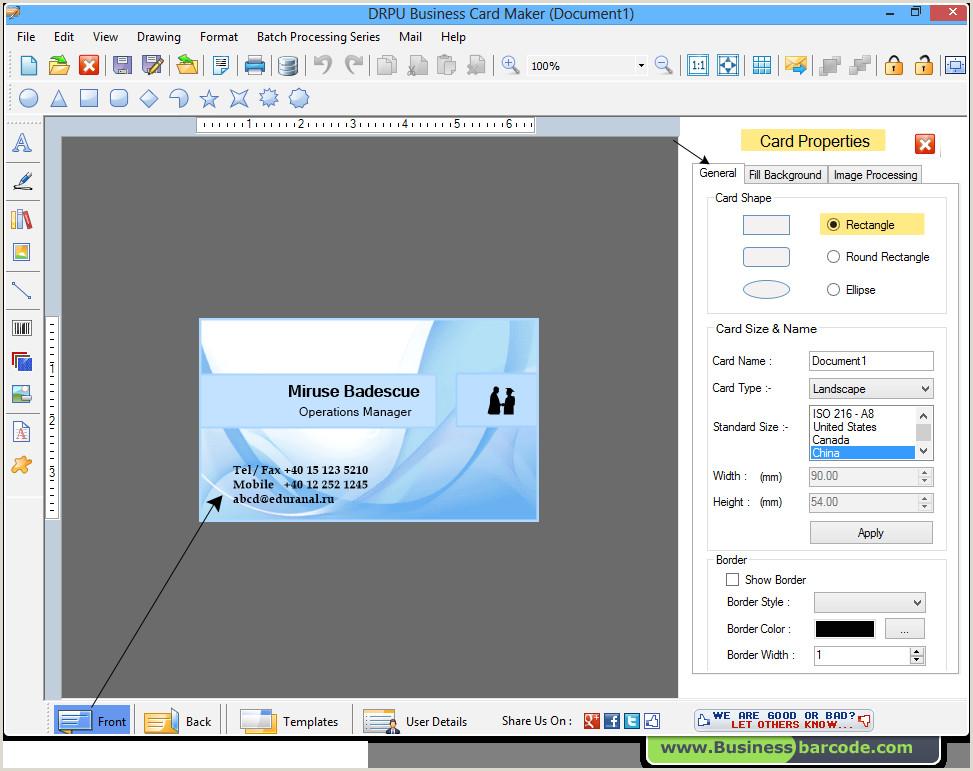 Best Program To Design Business Cards Business Card Maker Software Designs Printable Business