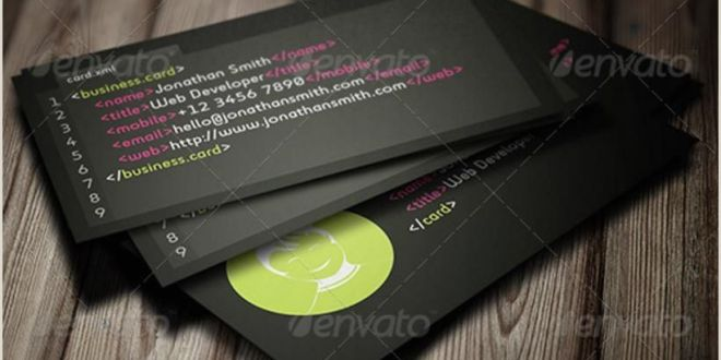 Best Site for Business Cards Creative Web Developer Business Card Templates – Psd