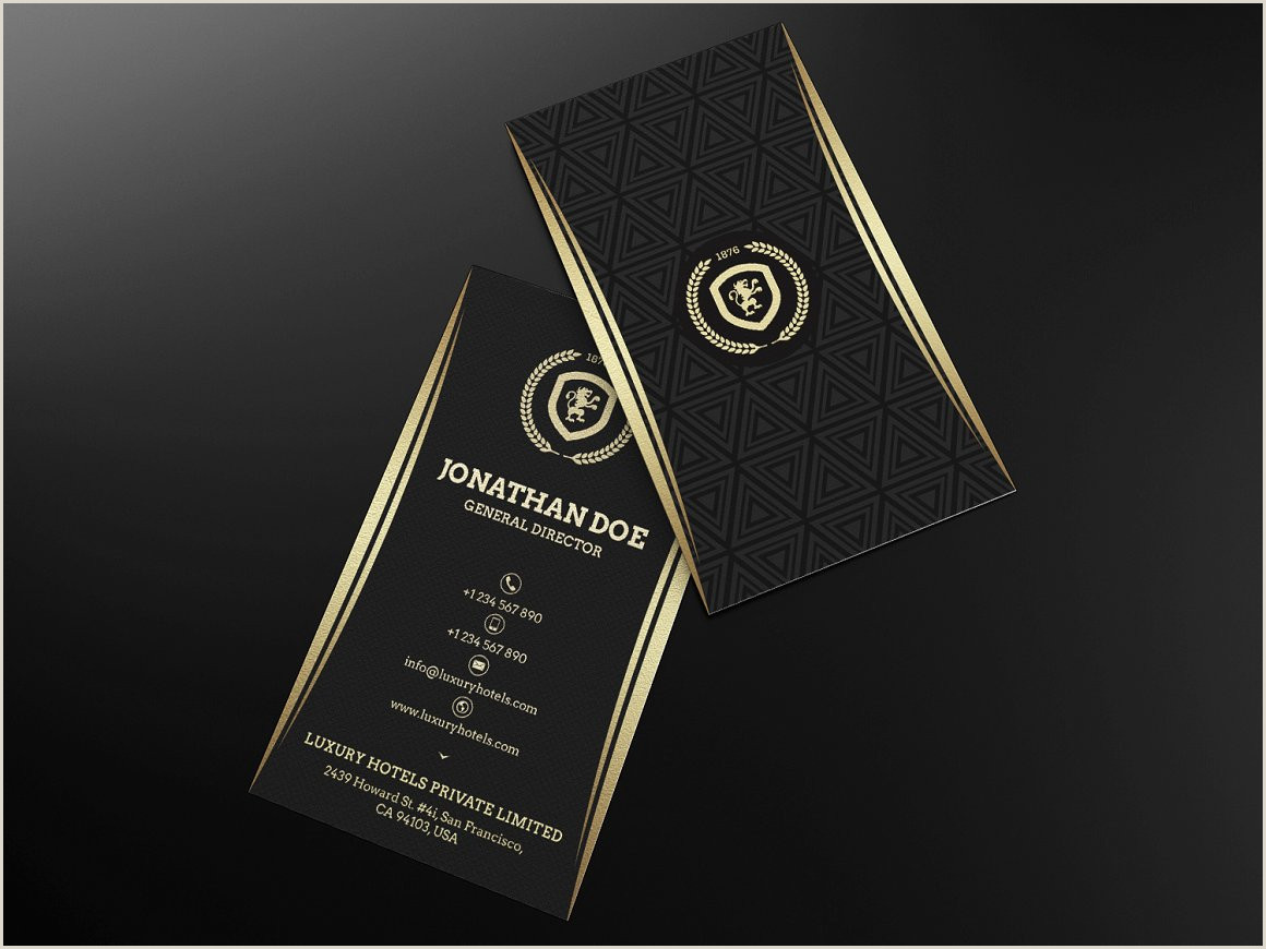 Black And Gold Business Cards 25 Black And Gold Business Card Templates