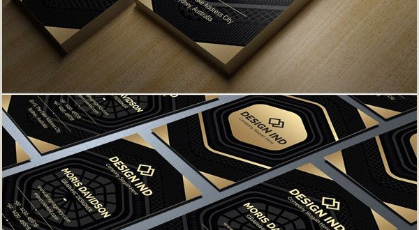 Black and Gold Business Cards Black and Gold Business Card Templates Design