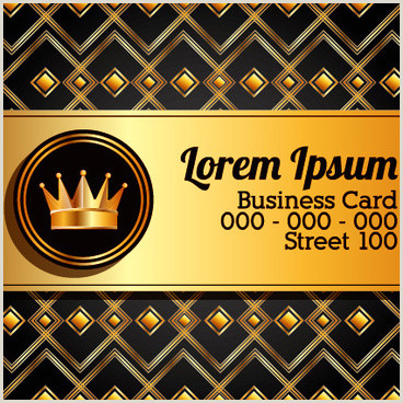 Black And Gold Business Cards Black And Gold Business Cards Free Vector 33 461