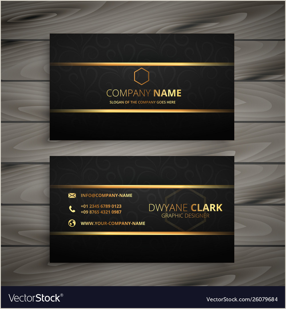 Black And Gold Business Cards Black And Gold Premium Business Card Design