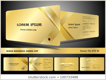 Black And Gold Business Cards Business Card Black Gold Stock S & Vectors