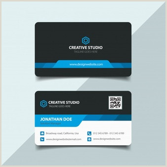 Black And Gold Business Cards Free Vector