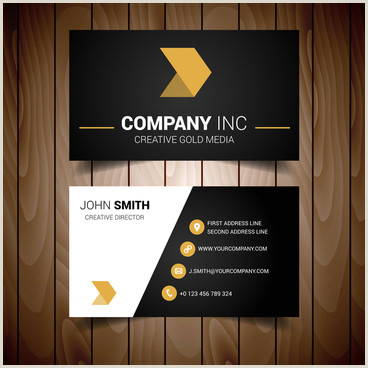 Black And Gold Business Cards Gold And Black Business Card Vector Free Vector