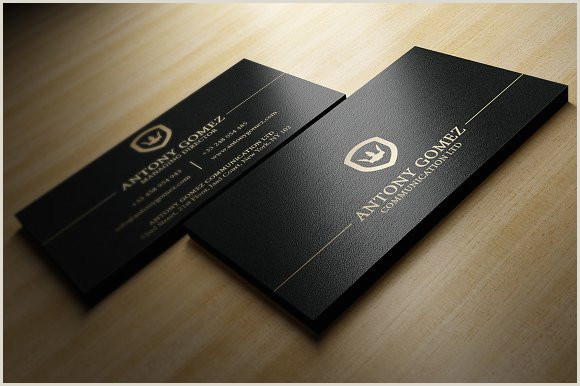 Black And Gold Business Cards Simple Gold And Black Business Card