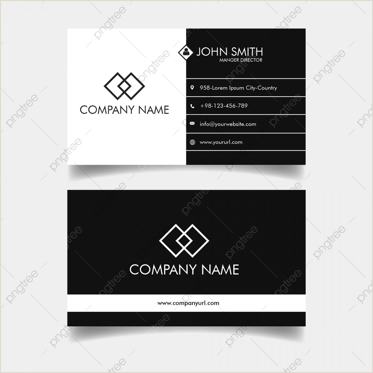 Black And White Business Cards Templates Free Black And White Business Card Png