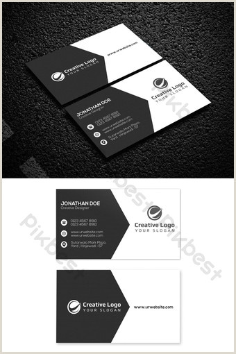 Black And White Business Cards Templates Free Black White Business Card Templates