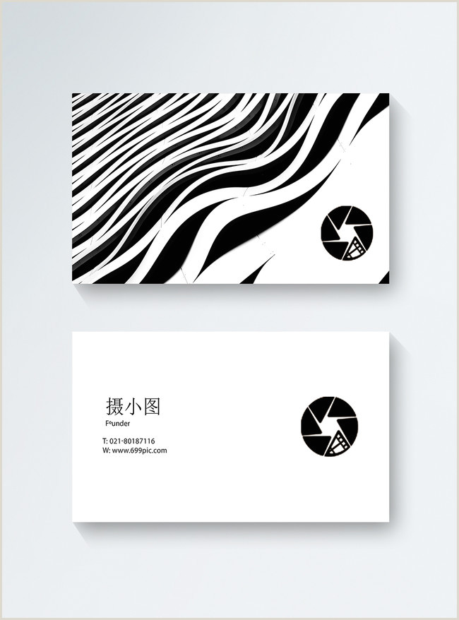 Black And White Business Cards Templates Free Creative Black And White Business Card Template