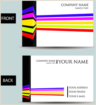 Black And Yellow Business Cards Modern Business Card Black And Yellow Free Vector