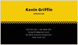 Black And Yellow Business Cards Yellow Black Simple Taxi Business Card