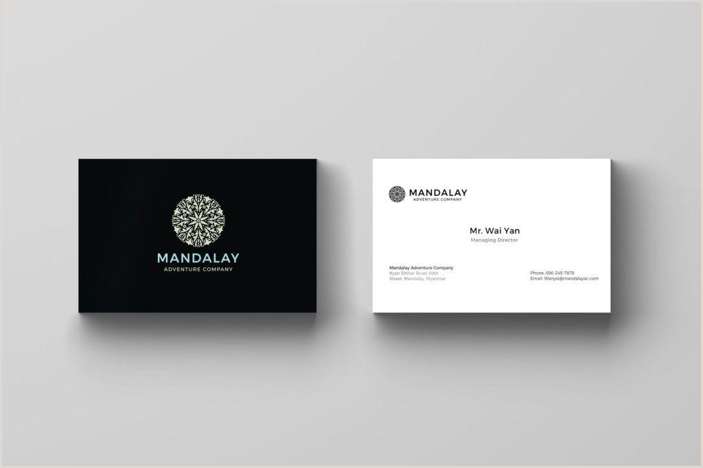 Black Business Card Design Asean Business Card Design