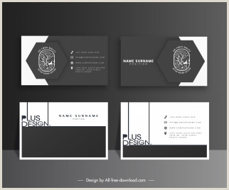 Black Business Card Design Black Business Card Vectors Stock For Free About