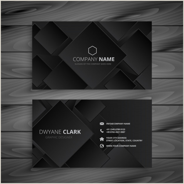 Black Business Card Design Free Vector