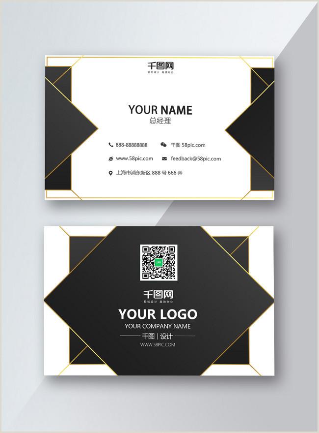 Black Business Card Design High End Black Business Card Design Template Image Picture