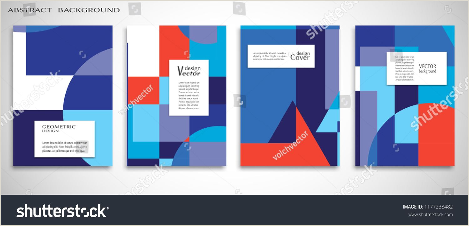 Book Banner Template Set Of A4 Cover Abstract Position Colorful Header