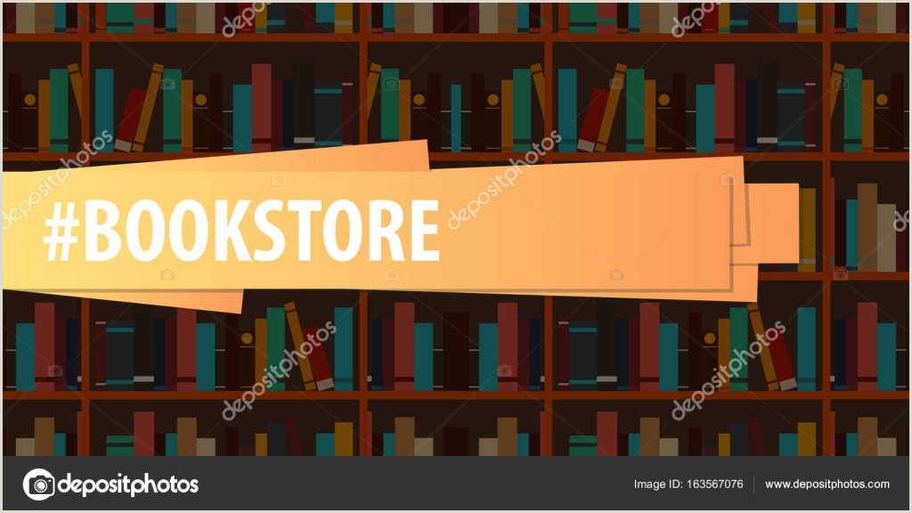 Book Signing Banner Banner Book Store Book Shelf Or Bookcase On The Background