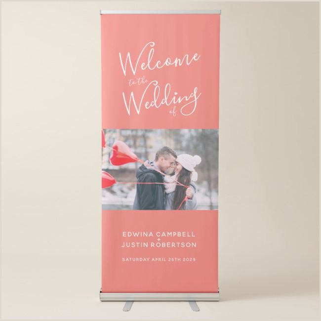 Book Signing Banner Wel E Banner Script Personalized Photo Coral