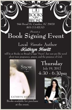 Book Signing Poster Examples 10 Best Marketing Author Posters Images