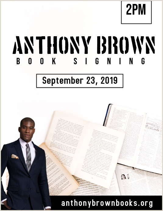 Book Signing Poster Examples Author Book Signing Template
