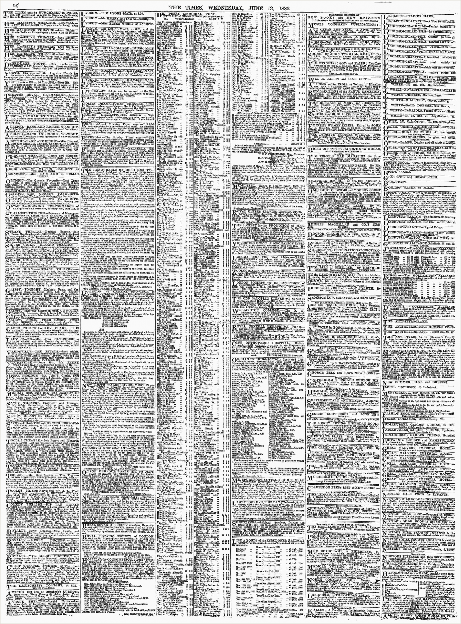 Bthe Best Business Cards Archive Page Viewer June 13 1883