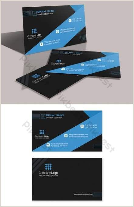 Buisness Card Idea Business Cars Design Blue Black 48 Ideas