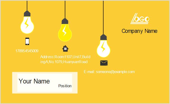 Buisness Card Idea Idea Business Card Template