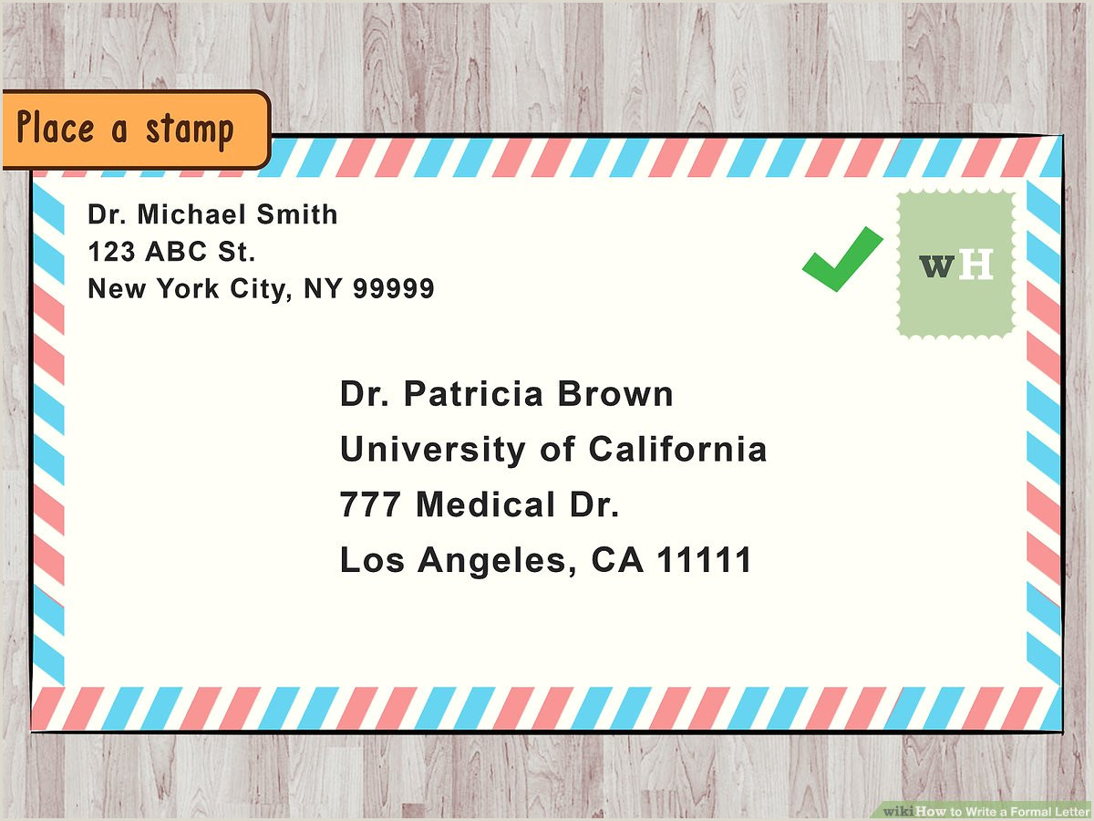 Business Card Address Format 4 Ways To Write A Formal Letter Wikihow