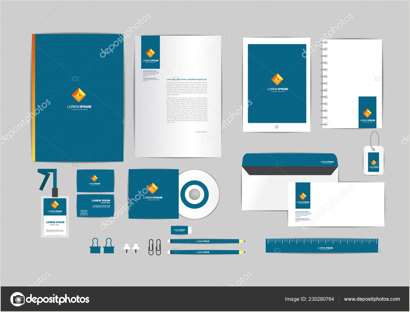 Business Card Address Format Blue Gold And Square Corporate Identity Template For Your Business Includes Cd Cover Business Card Folder Ruler Envelope And Letter Head Designs