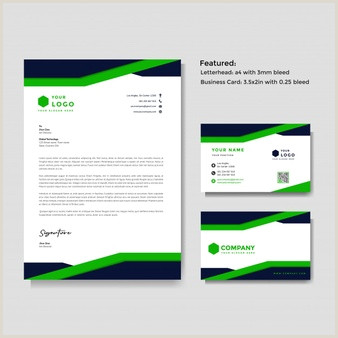 Business Card And Stationery Design Free Vector