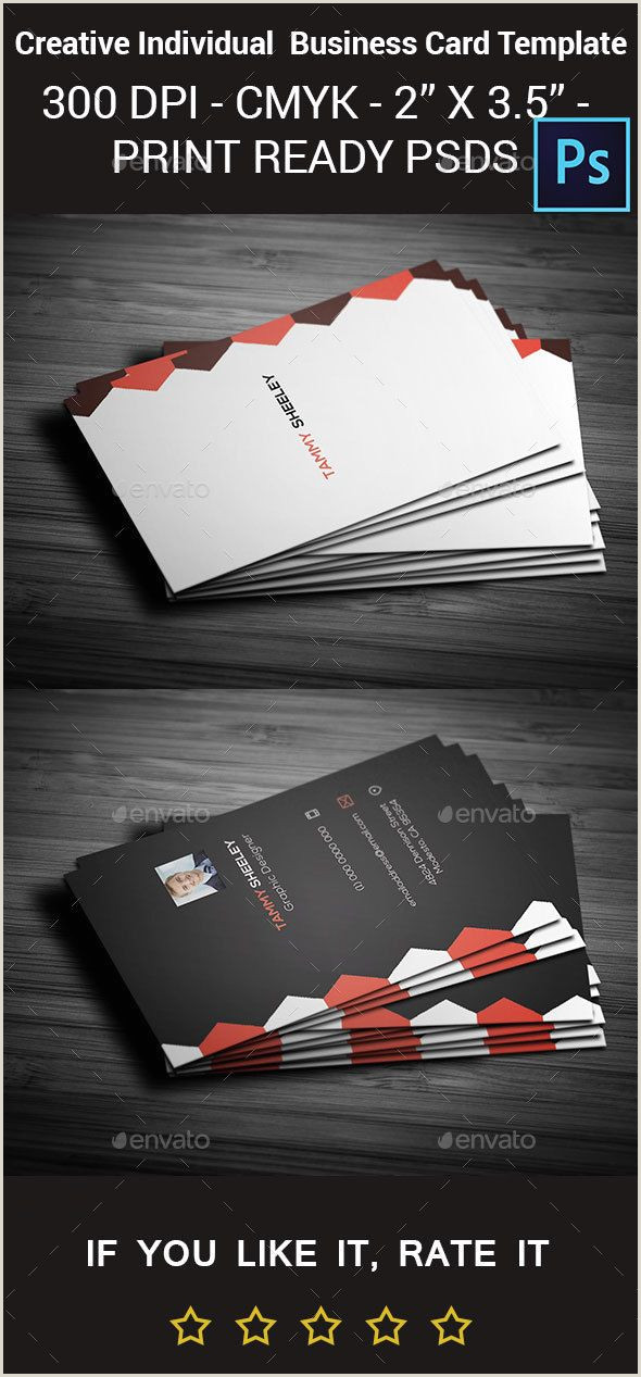Business Card Back Design Creative Personal Business Card Templatefully Layered It