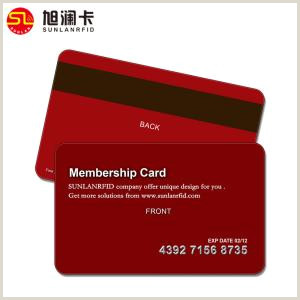 Business Card Back Design Pvc Magnetic Stripe Cards With Silver Embossing Number For