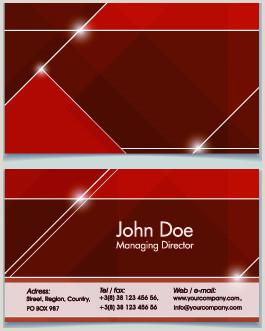 Business Card Background Designs Modern Business Card Background Design Free Vector