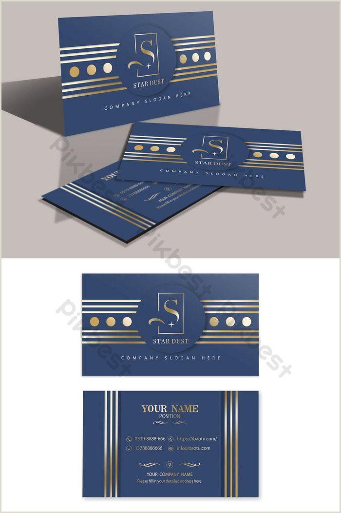 Business Card Background High Grade Dark Blue Geometric Lines Layered Hot Gold
