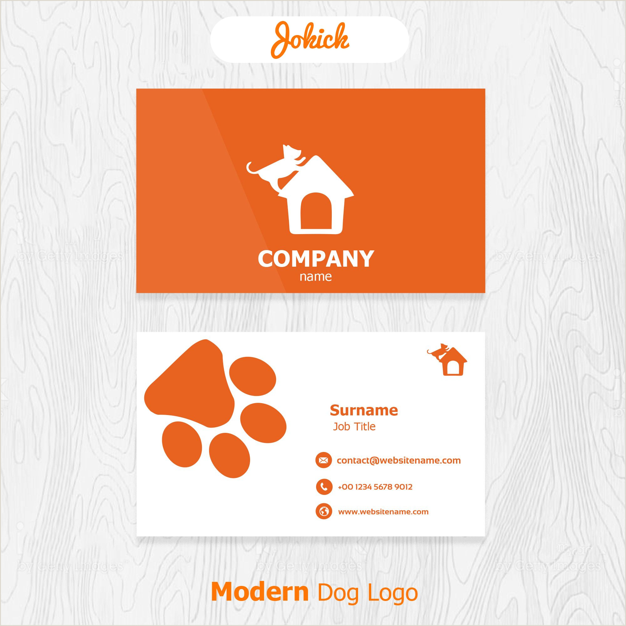 Business Card Background Modern Doggy Business Card Design Which Has White And