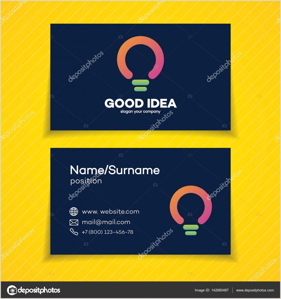 Business Card Branding Business Card With Good Idea Logo