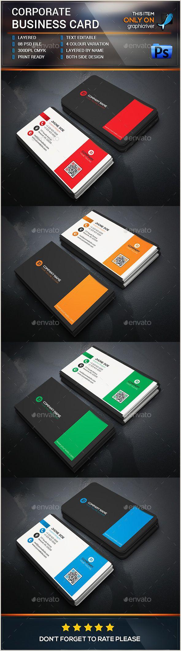 Business Card Branding Corporate Business Card Template
