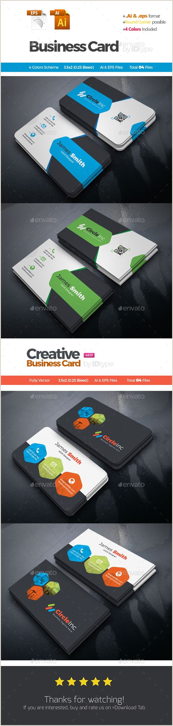 Business Card Color Schemes Business Card Bundle 2 In 1 Corporate Business Cards