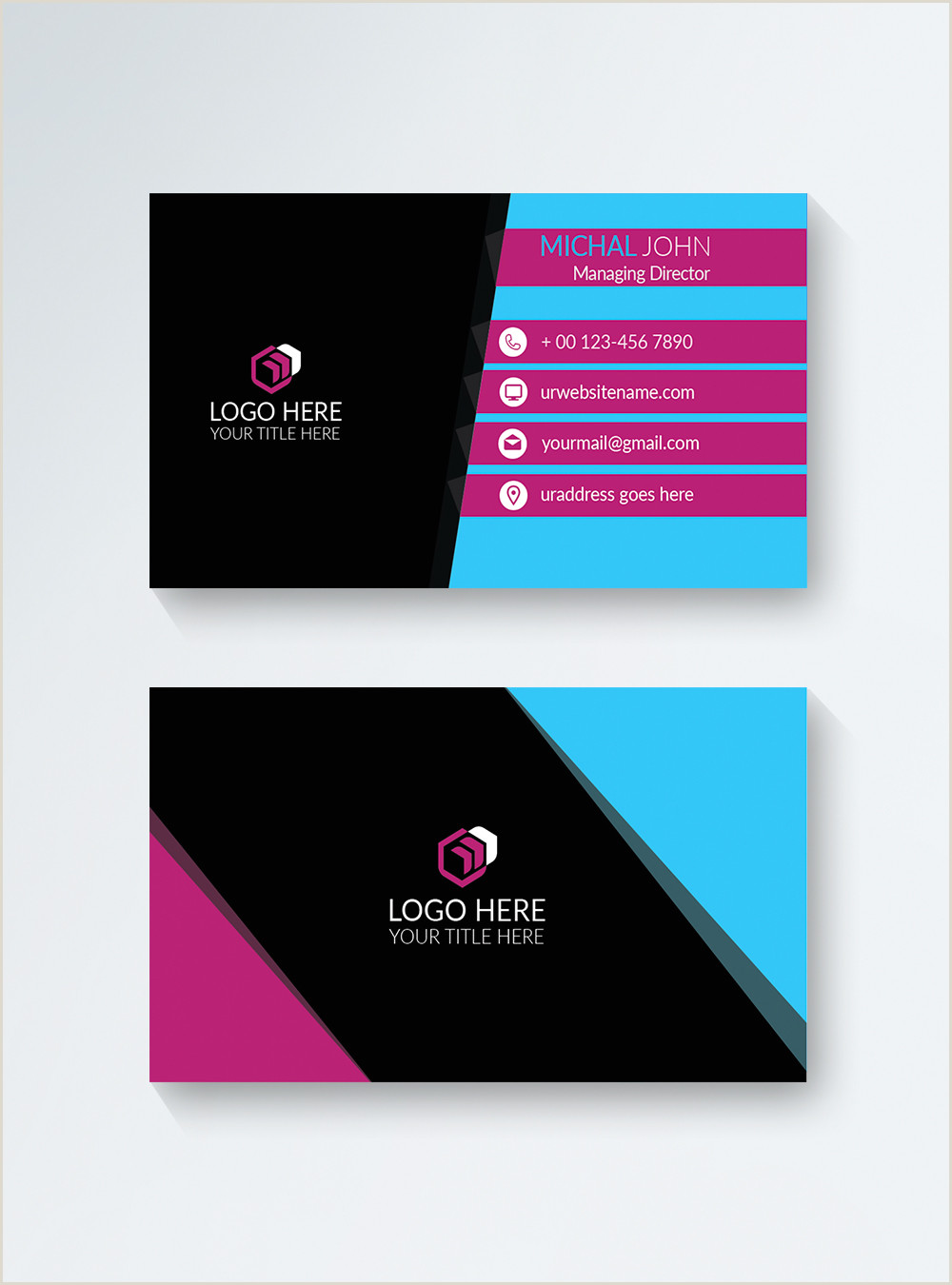 Business Card Color Schemes Color Business Card Template Image Picture Free