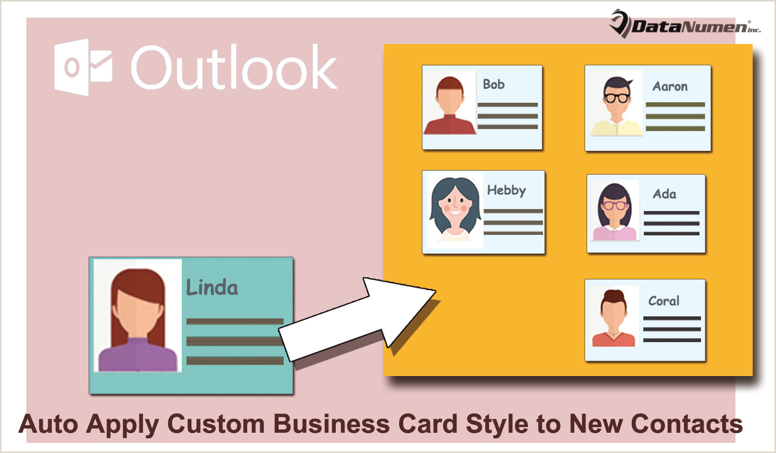 Business Card Contact Info 2 Ways To Auto Apply A Custom Business Card Style To New