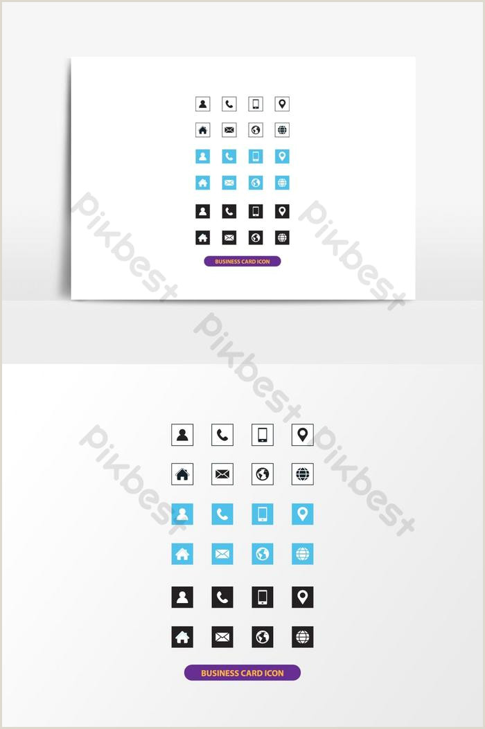 Business Card Contact Info Business Card Icon Set Contact Info Icon Set Business Card