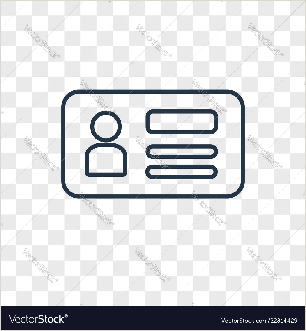 Business Card Contact Info Id Card Concept Linear Icon Isolated On Vector Image