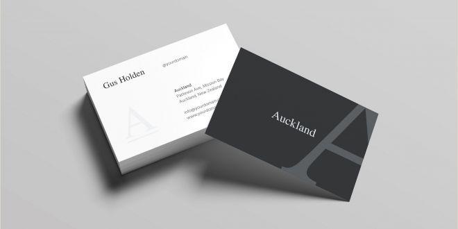 Business Card Design Simple Auckland Business Card