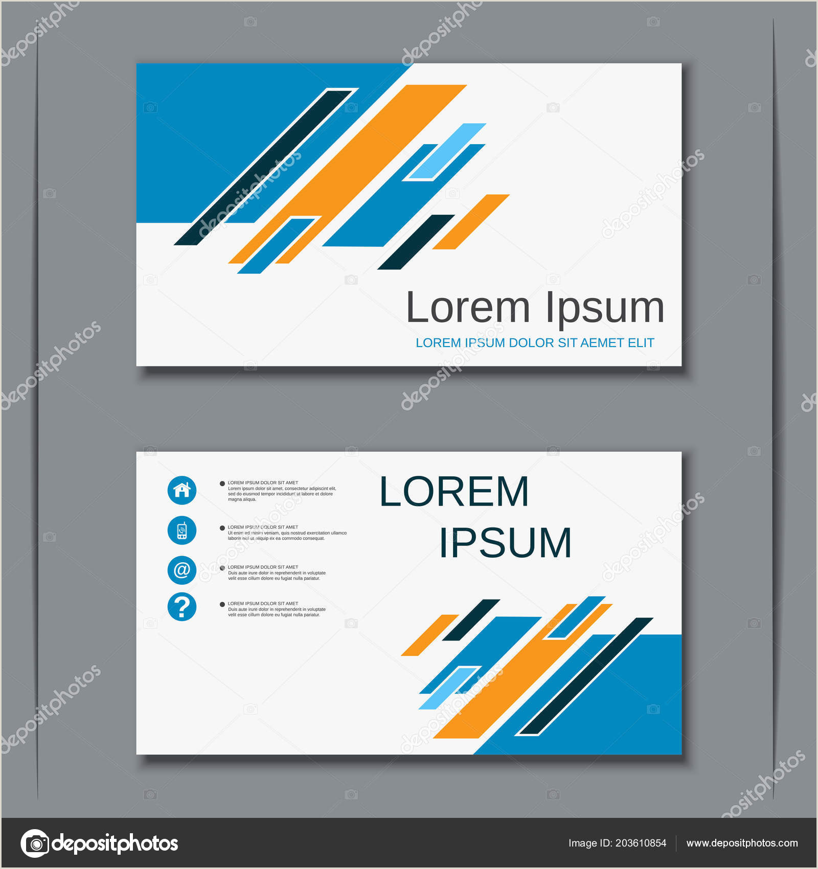 Business Card Details Business Visiting Card Vector Design Template