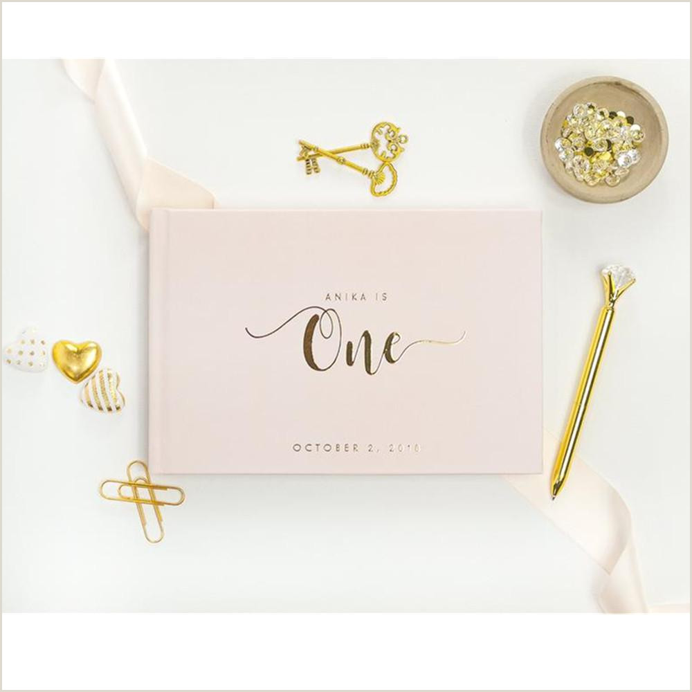 Business Card Drop Box Ideas 2020 Foil Gold Babys First Birthday Guestbook Ideas Book Custom Birthday Guest Book Album Gift Baby Girl Birthday Memory Book From Erikaning