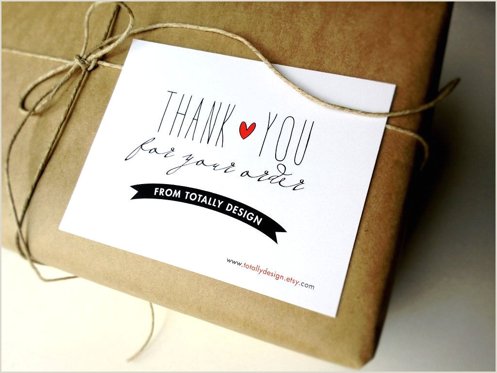 Business Card Drop Box Ideas Artsy Thank You For Your Order Cards Custom By Totallydesign